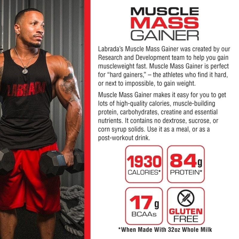 Labrada - Muscle Mass Gainer (12 Lbs) - mmgainer benefitathlete p 800x80 1
