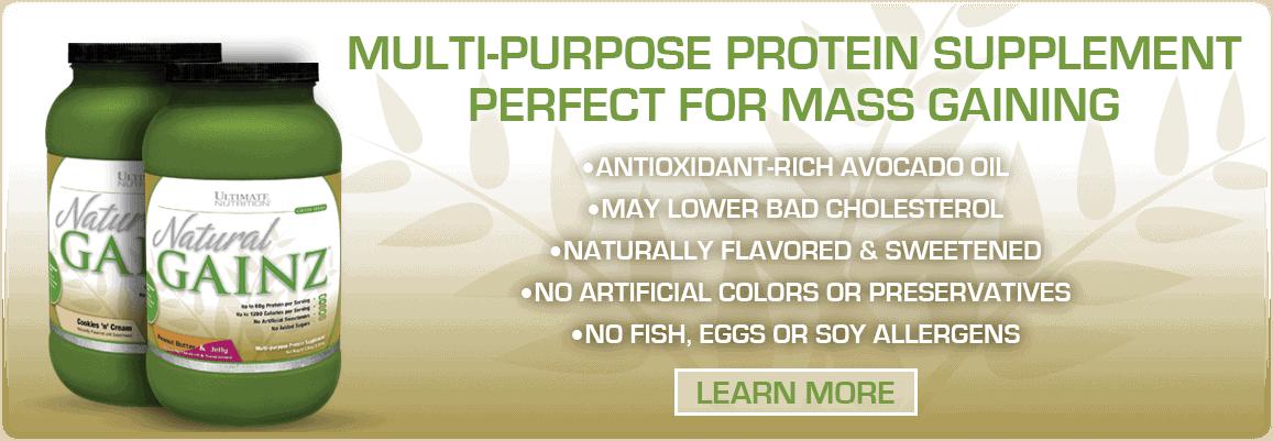 Ultimate Nutrition - Natural Gainz (3.66 Lbs) - naturalgainz hp banner 1157x401 1