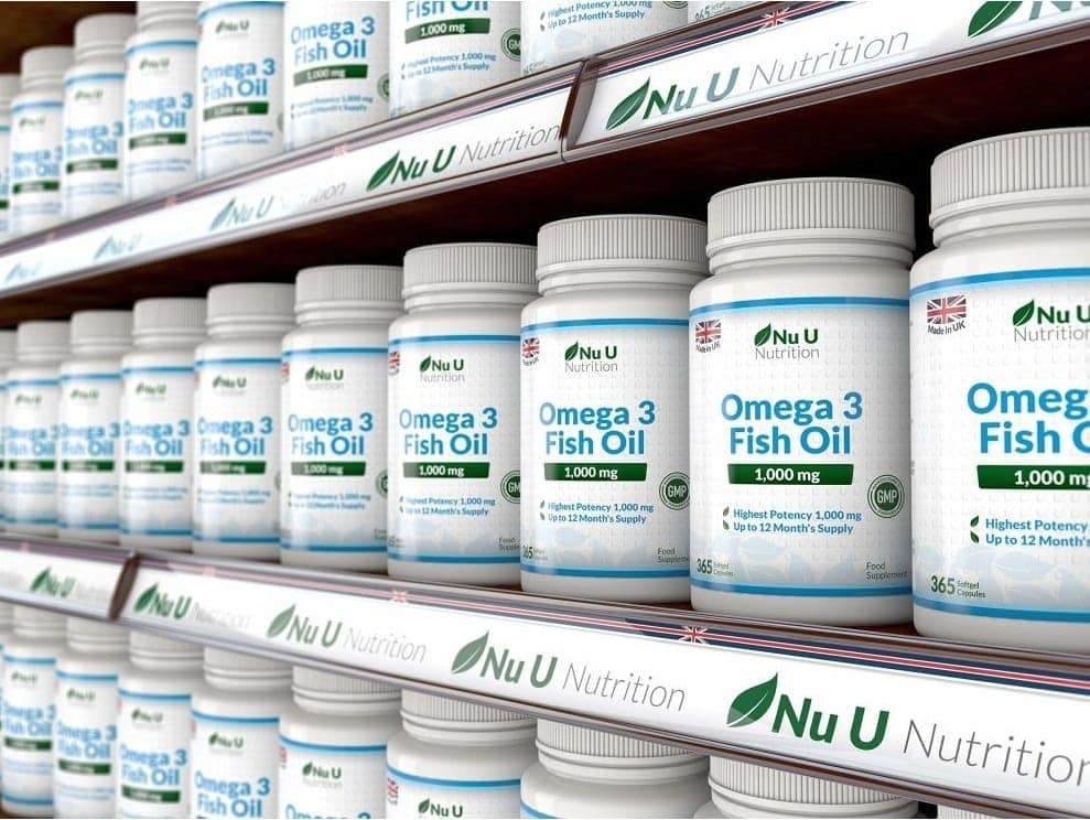 Nu U Nutrition - Omega 3 Fish Oil 1,000mg (365 viên) - omega 3 fish oil 1000mg 365 soft 1