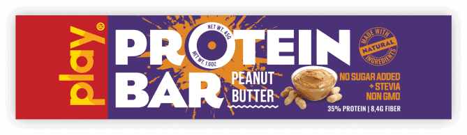 Bánh Play Nutrition Protein Bar (Thanh 45g) - peanut butter tag