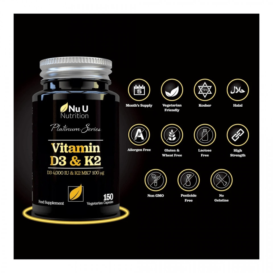 Nu U Nutrition - Platinum Series Vitamin D3 & K2 (150 viên) - vitamind3 k2 1024x1024 1 960x960 1