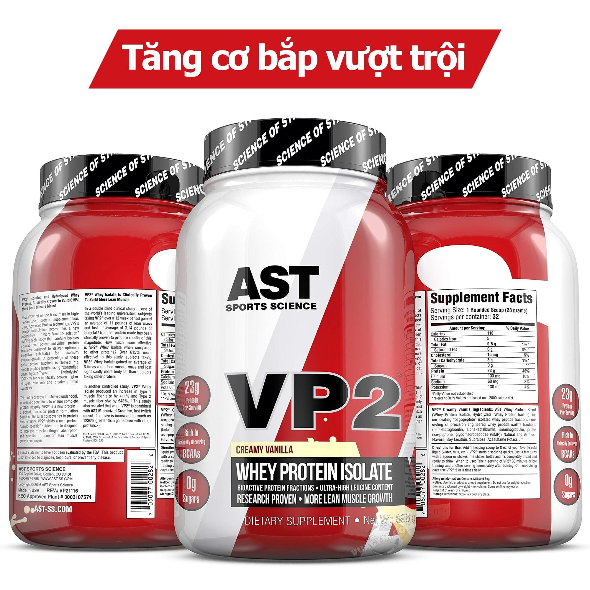 AST - VP2 Whey Isolate (2 Lbs) - vp2 whey isolate album