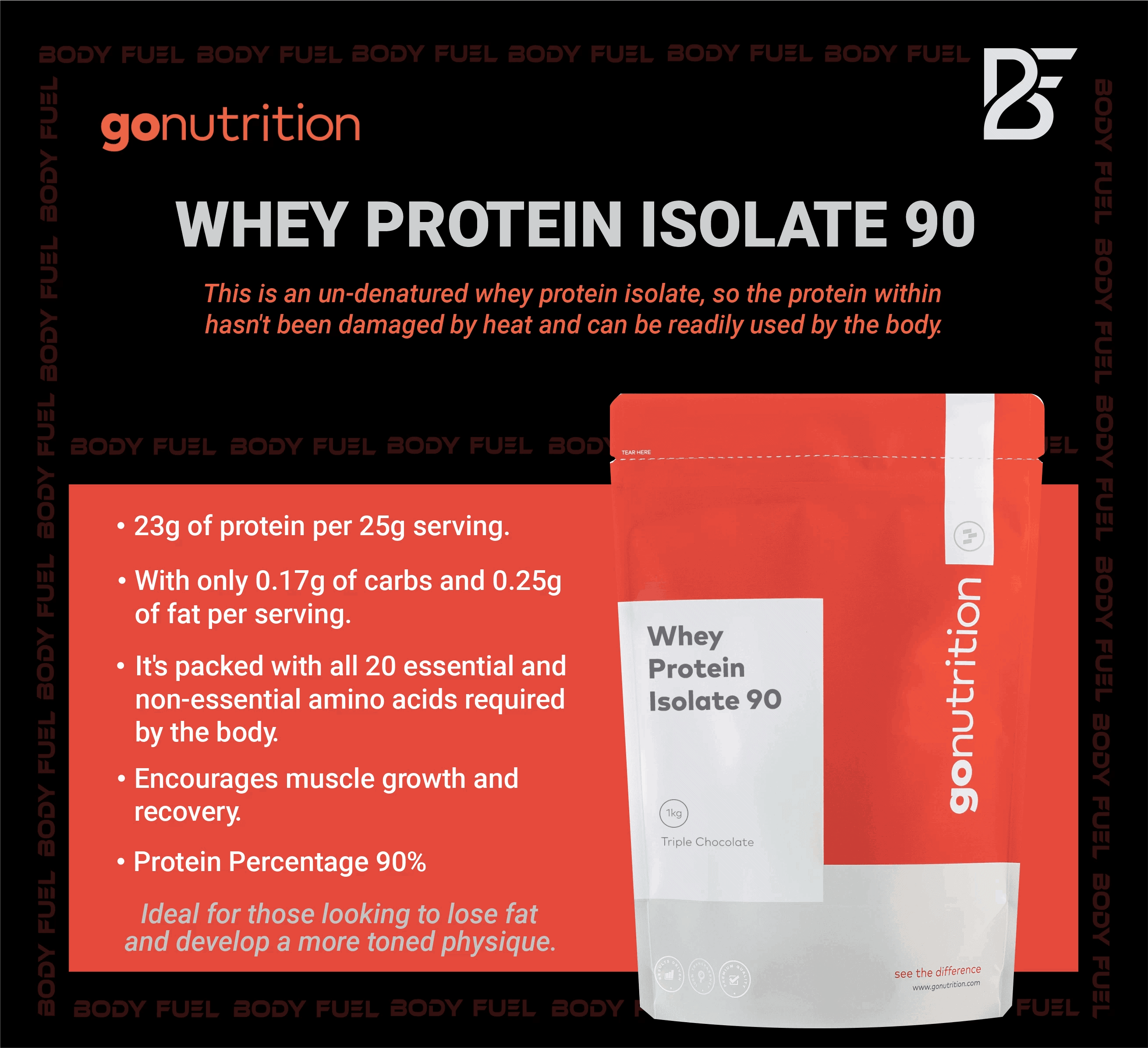 GoNutrition - Whey Protein Isolate 90 (2.5KG) - whey isolate