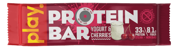 Bánh Play Nutrition Protein Bar (Thanh 45g) - yogurt cherries tag