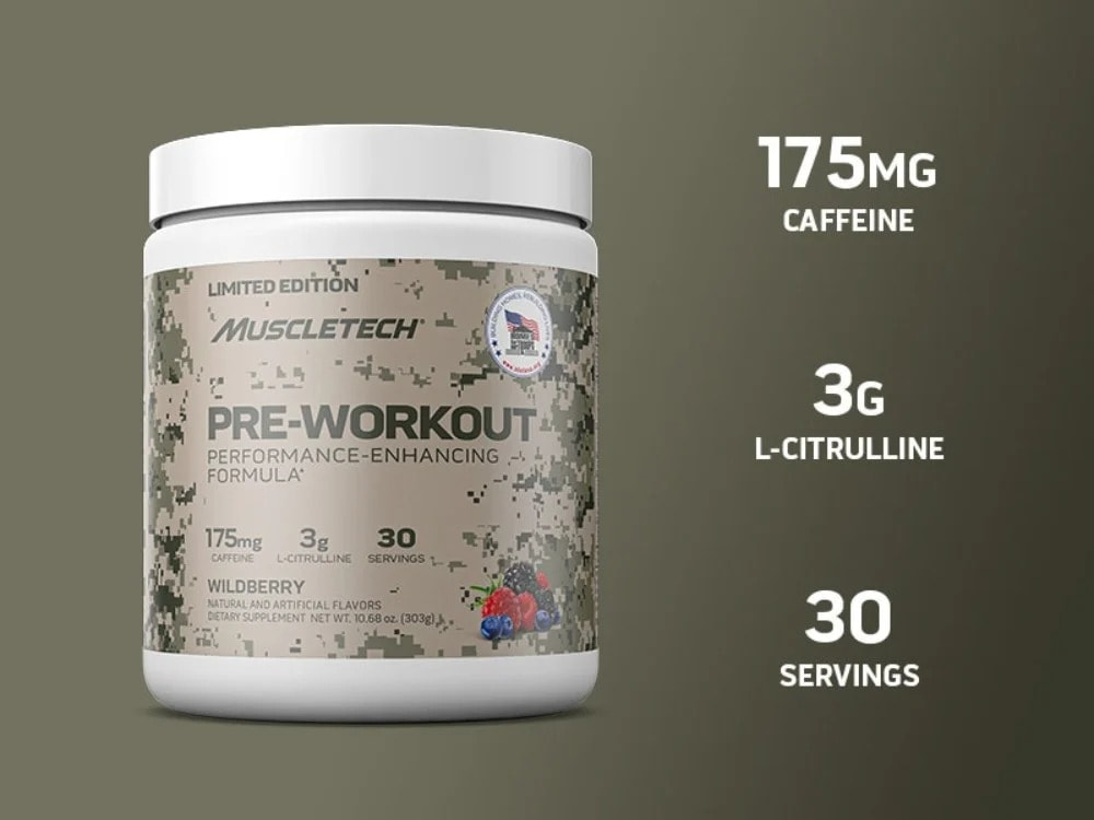 MuscleTech - Homes For Our Troops Pre-Workout (30 lần dùng) - muscletech pre workout overview