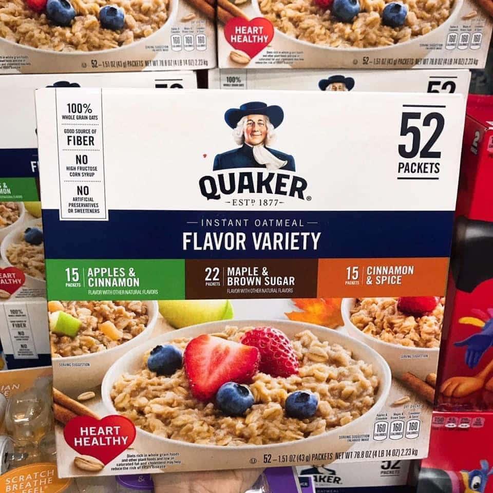 Yến Mạch Ăn Liền Quaker Instant Oatmeal (Thùng 52 gói) - z2152357028867 5d7ad61fd42738880c68cc0aec0f5114