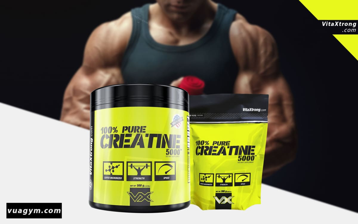 VitaXtrong - 100% Pure Creatine 5000 (500g) - 100 pure creatine 5000 mota 1