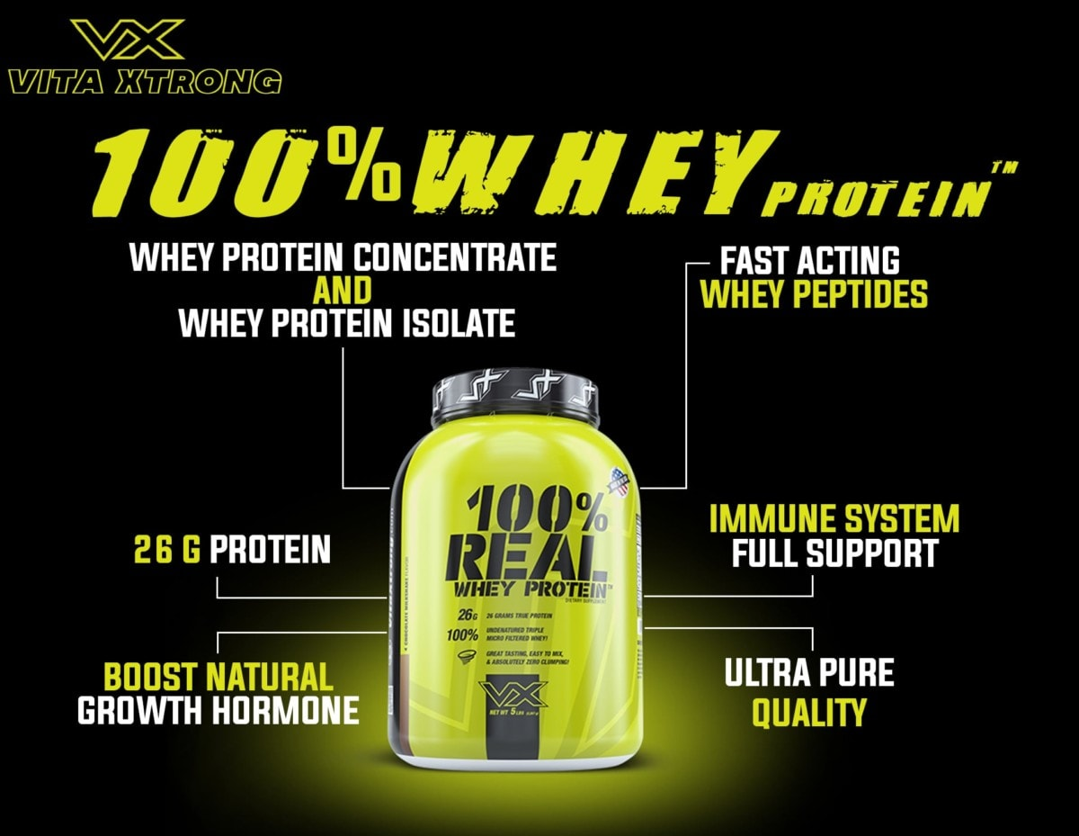VitaXtrong - 100% Real Whey Protein (10 Lbs) - 104708264 119549743132636 658153