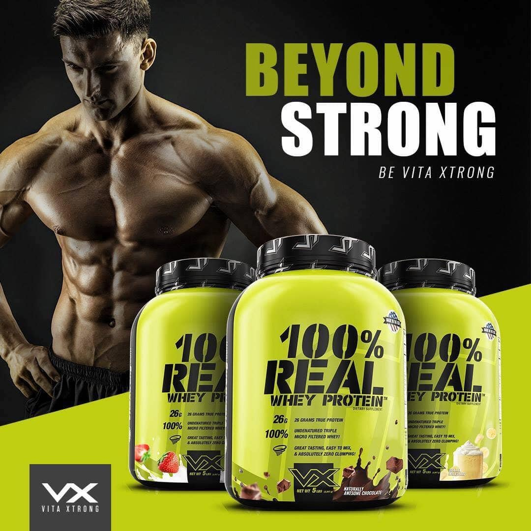 VitaXtrong - 100% Real Whey Protein (10 Lbs) - 44422395 308948499946224 4119892