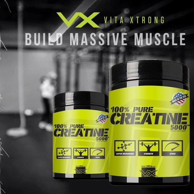 VitaXtrong - 100% Pure Creatine 5000 (500g) - 9be83d91342ac187a7bd879c59fd9b08