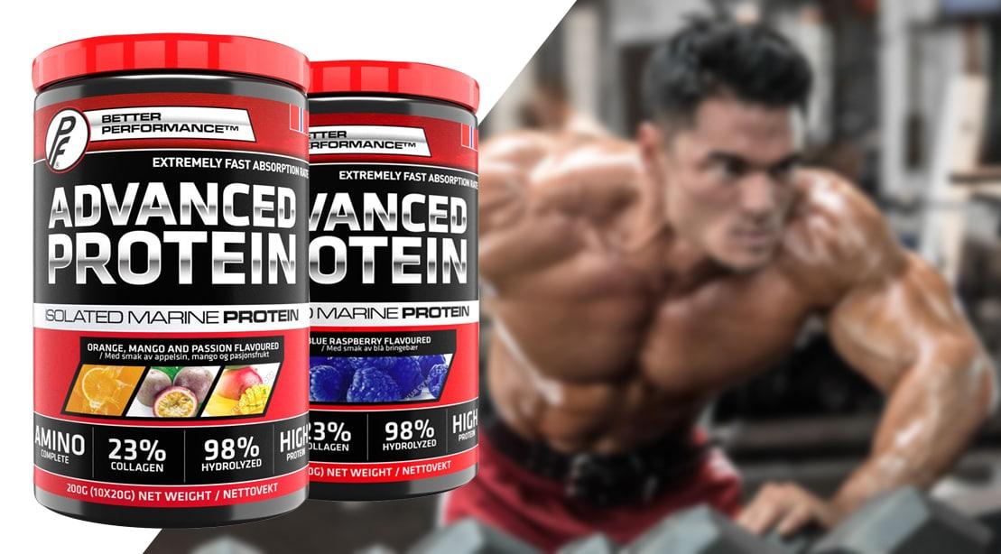 Proteinfabrikken - Advance Protein Powder (10 lần dùng) - advance protein orange mango pas 10sv mota
