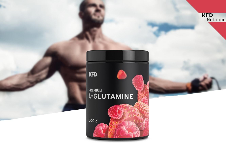 KFD - Premium L-glutamine (500g) - kfd premium glutamine 500g mota