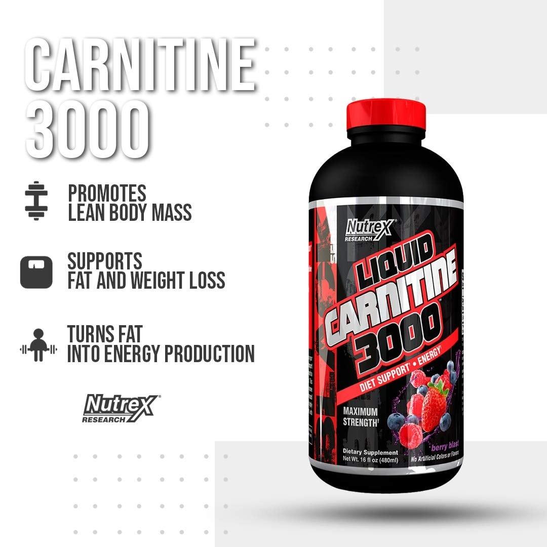 Nutrex - Liquid Carnitine 3000 (16 Fl. Oz) - 6105m6 3dzl