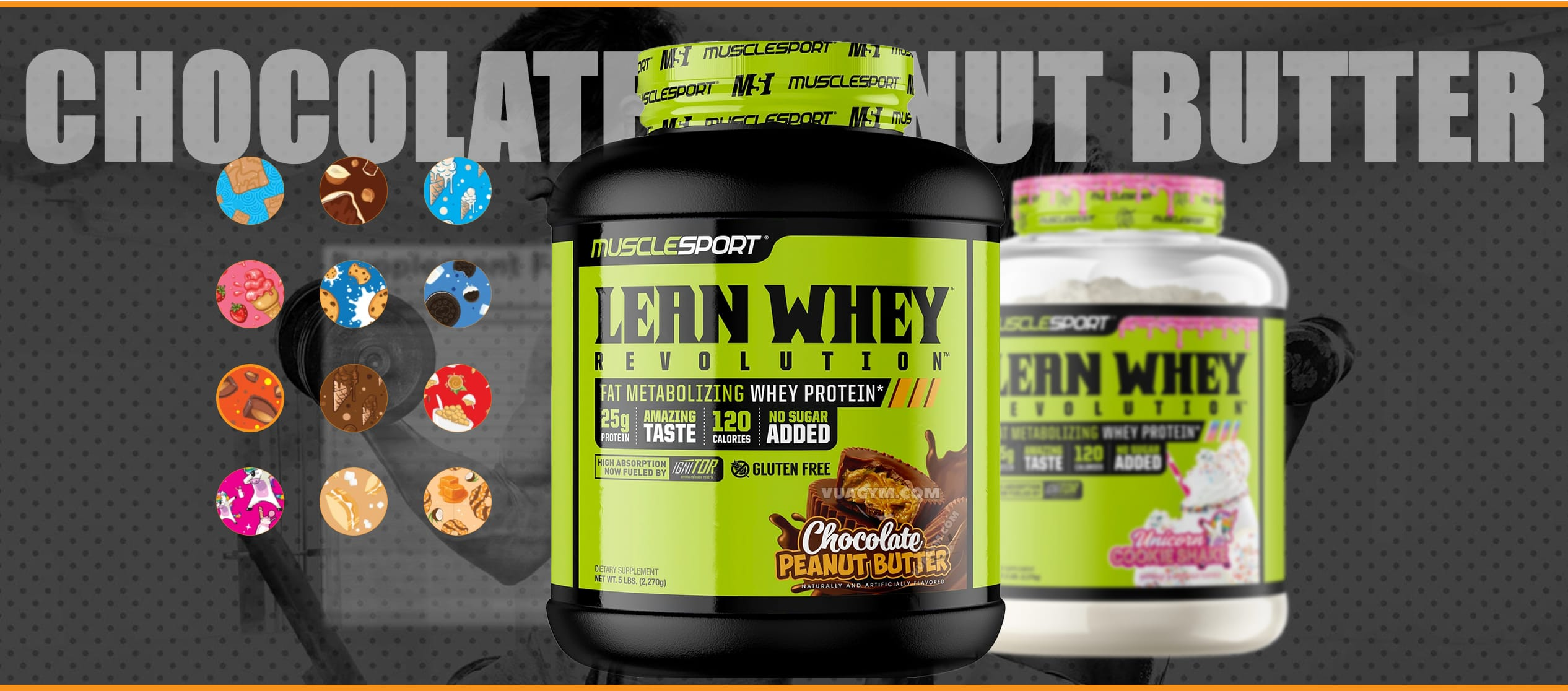 MuscleSport - Lean Whey Revolution (5 Lbs) - 212313