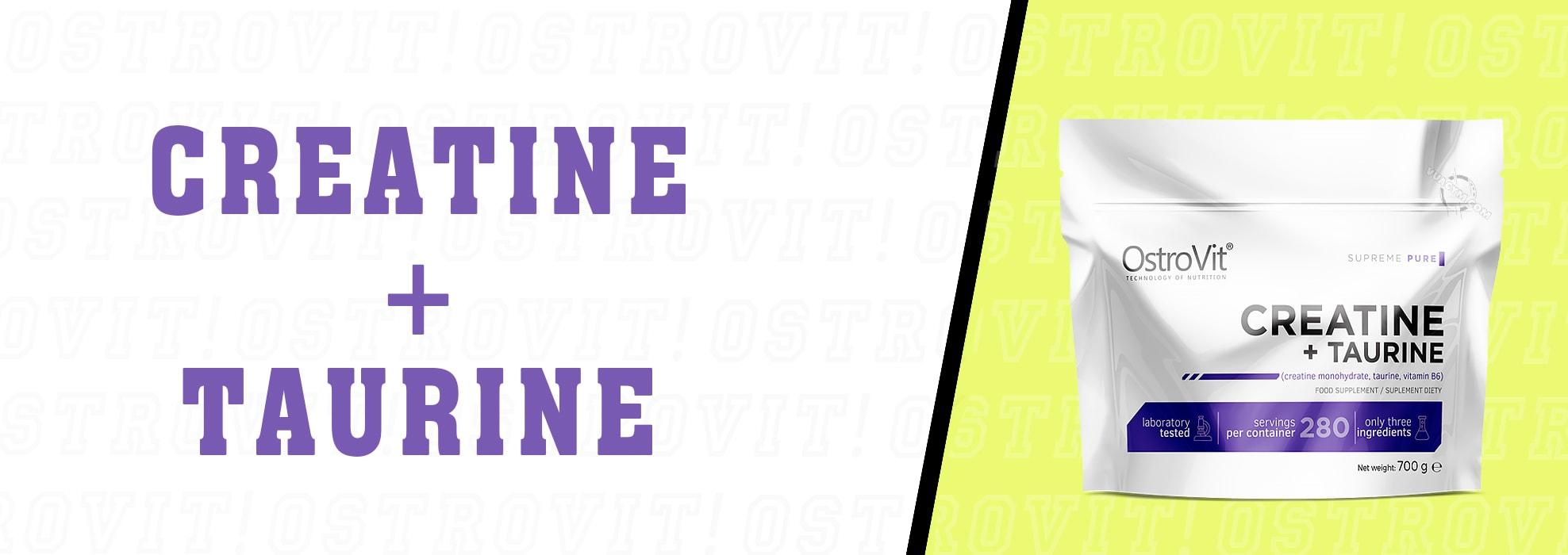 OstroVit - Creatine + Taurine (700g) - ostrovit creatine taurine 700g mota